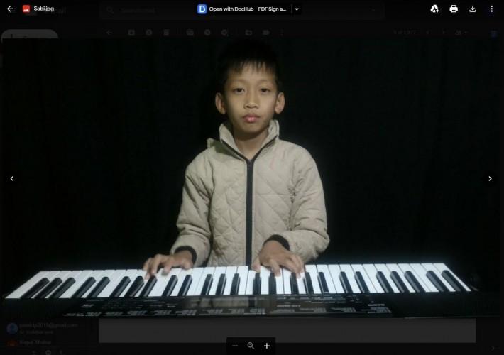 १० वर्षे वालक साजन बने कूशल गायक र एरेन्जर